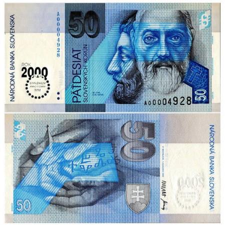 "1993 (2000) * Billete Eslovaquia 50 Korun ""Millennium"" (p35) SC"