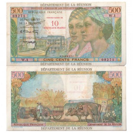 1967-1971 * Billete Reunión 10 NF en 500 francos RC