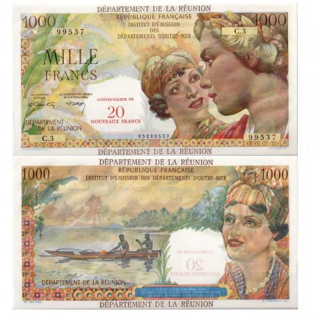 1967-1971 * Billete Reunión 20 NF en 1000 francos EBC
