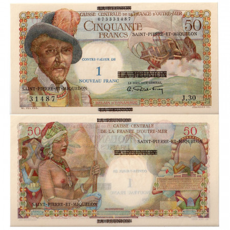 1960 * Billete San Pedro y Miquelón 1 NF en 50 francos EBC