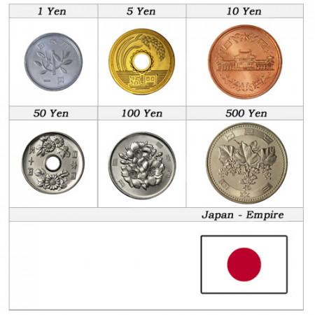 Años Mixto * Serie 6 Monedas Japón