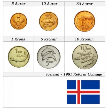 Años Mixto * Serie 6 monedas Islandia