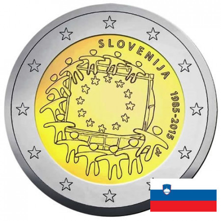 "2015 * 2 Euro ESLOVENIA ""30 Aniversario de La Bandera Europea"""