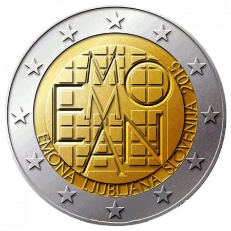 """2015 * 2 Euro ESLOVENIA """"2000 Años del Asentamiento Romano Emona"""""""