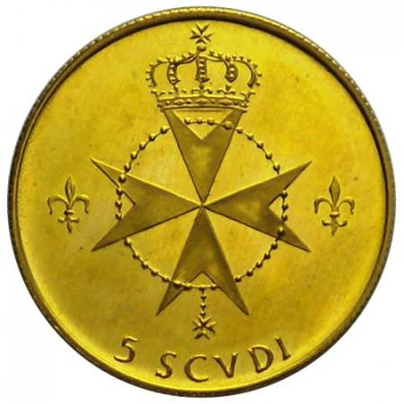 1969 * 5 scudi SMOM oro