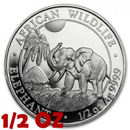 "2017 * 50 Shillings Half 1/2 OZ Somalia ""Elefante"" FDC"