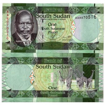 ND (2011) * Billete Sudán del Sur 1 Pound (p5) SC
