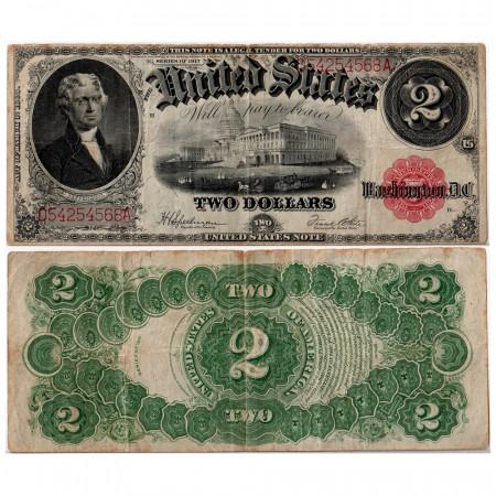 1917 * Billete Estados Unidos 2 dollars RC+
