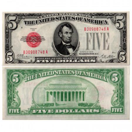 1928 * Billete Estados Unidos 5 dollars EBC-