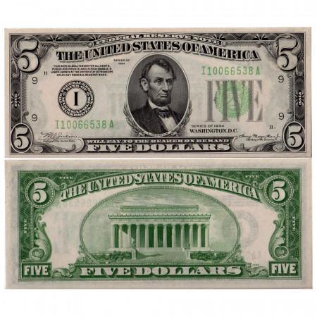 1934 * Billete Estados Unidos 5 dollars I EBC Minneapolis