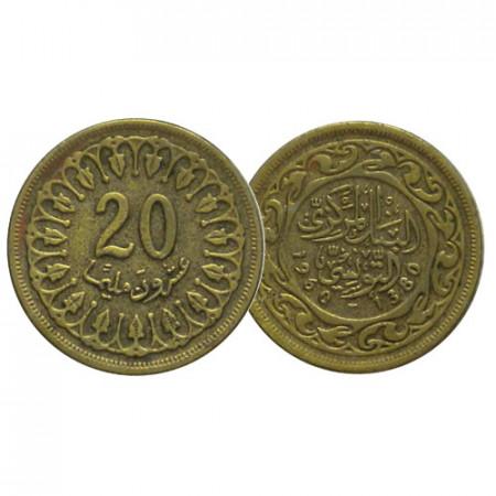 AH 1380 (1960) * 20 Millièmes Túnez (KM 307) MBC-CIR
