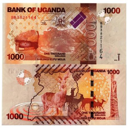 "2010 * Billete Uganda 1000 Shillings ""Antelopes"" (p49a) SC"