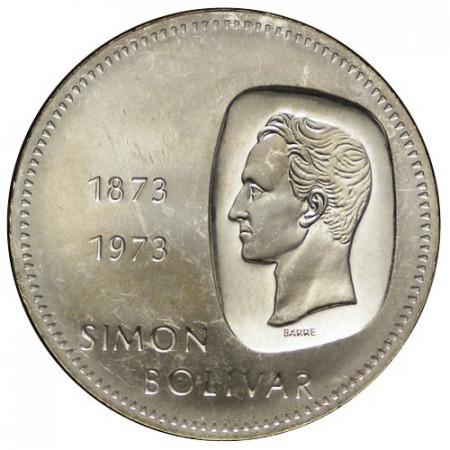 """1973 * 10 Bolívares Plata Venezuela """"100° Simón Bolívar"""" (Y 45) EBC"""