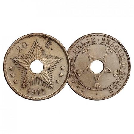 """1911 * 20 Centimes Congo Belga """"Colonia"""" (KM 19) EBC"""