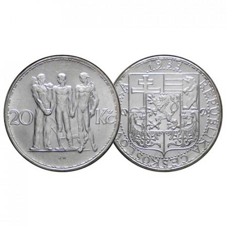 "1933 * 20 Korun Plata Checoslovaquia ""Industria, Agricultura y Negocios"" (KM 17) FDC"