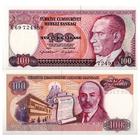 "L.1970 (1984) * Billete Turquía 100 Lira ""Kemal Atatürk"" (p194) SC"