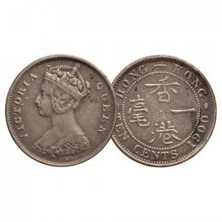"1900 H * 10 Cents Plata Hong Kong ""Reina Victoria"" (KM 6.3) MBC+"