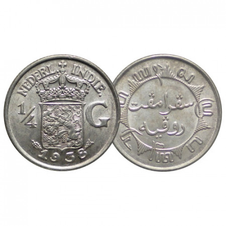 1938 (u) * 1/4 Gulden Plata Indias Orientales Neerlandesas - Netherlands East Indies (KM 319) SC