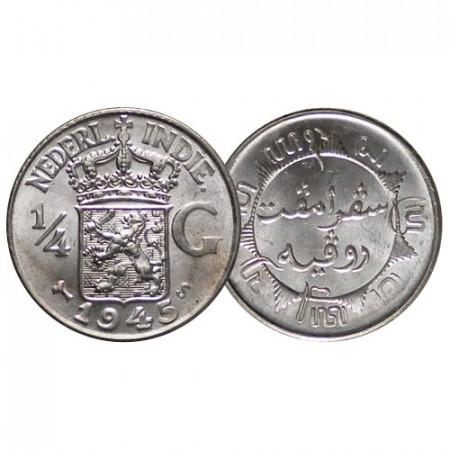 1945 S * 1/4 Gulden Plata Indias Orientales Neerlandesas - Netherlands East Indies (KM 319) SC