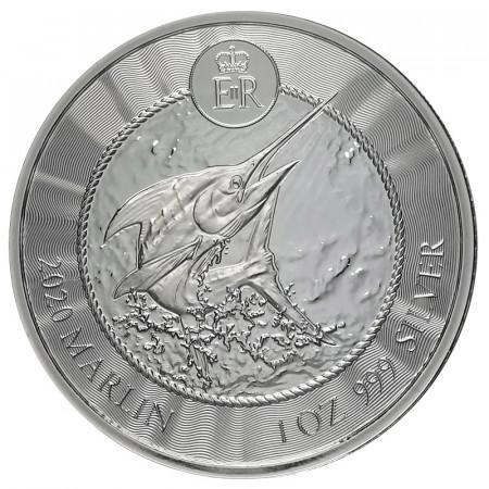 "2020 * 1 Dollar Plata 1 OZ Islas Caimán ""Blue Marlin"" FDC"
