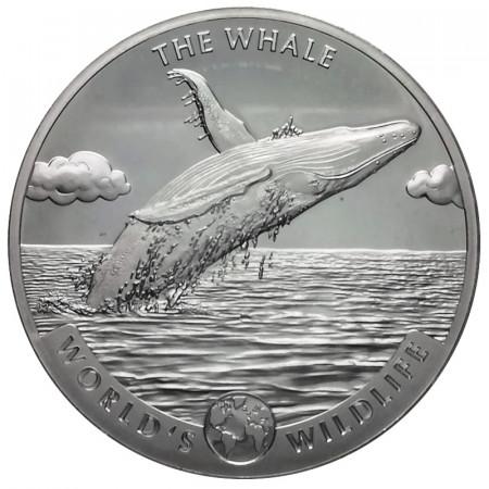"""2020 * 20 Francs Plata 1 OZ Congo República Democrática """"Wildlife - The Whale"""" FDC"""