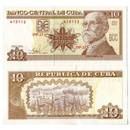 "2014 * Billete Cuba 10 Pesos ""M Gomez"" (pNew) SC"