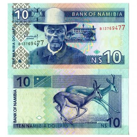 """ND (2001) * Billete Namibia 10 N Dollars """"H Witbooi"""" (p4c) SC"""