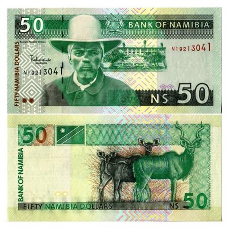 """ND (2003) * Billete Namibia 50 N Dollars """"H Witbooi"""" (p8a) SC"""