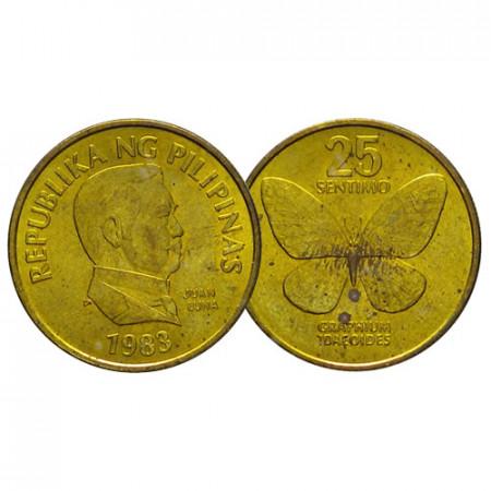 "1983 * 25 Sentimos Filipinas ""Butterfly"" (KM 241.1) UNC"