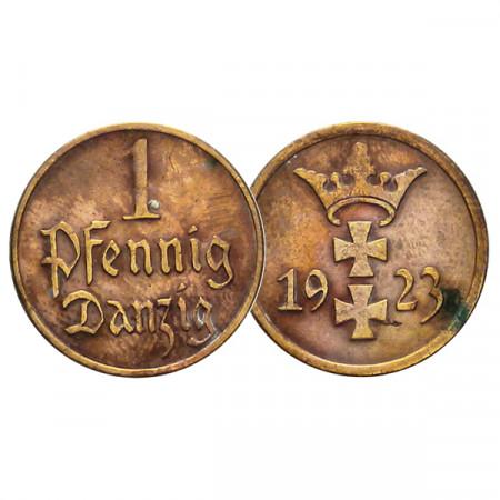 """1923 * 1 Pfennig Ciudad Libre de Danzig (Alemania) """"Otto Fischer"""" (KM 140) MBC+"""
