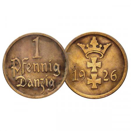 """1926 * 1 Pfennig Ciudad Libre de Danzig (Alemania) """"Otto Fischer"""" (KM 140) MBC+"""