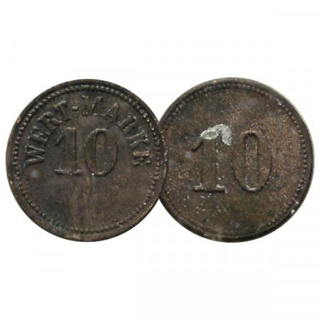 """ND * Token 10 Pfennig (Alemania) """"Wert-Marke"""" (KM x) MBC"""
