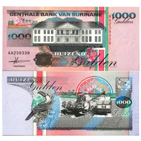 "1993 * Billete Surinam 1000 Gulden ""Central Bank - Paramaribo"" (p141a) SC"
