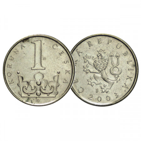 "2003 * 1 Koruna República Checa ""St. Wenceslas Crown"" (KM 7) MBC"