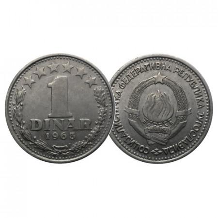 "1965 * 1 Dinar Yugoslavia ""State Emblem"" (KM 47) MBC"