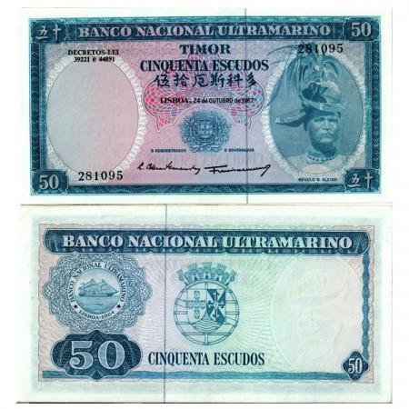 """1967 * Billete Timor 50 Escudos """"Régulo D Aleixo"""" (p27a) SC"""
