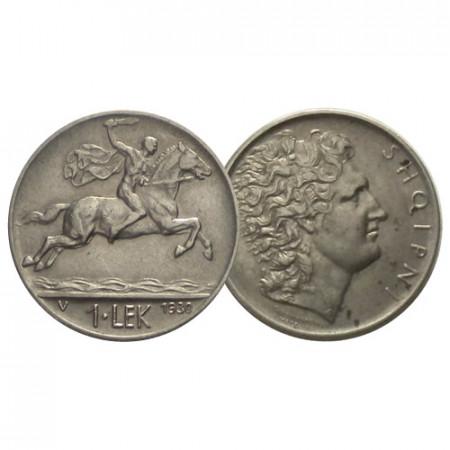 "1930 V * 1 Lek Albania ""Alexander the Great"" (KM 5) MBC+"