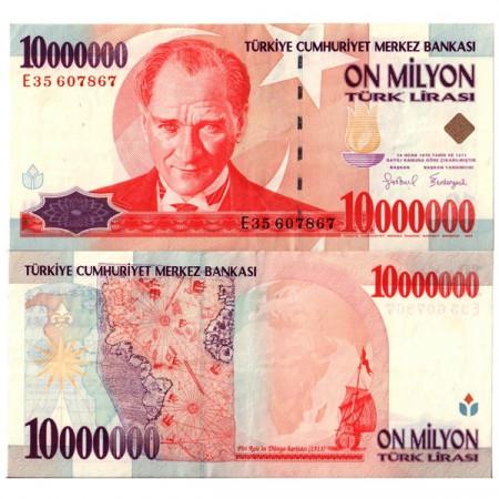 "L.1970 (1999) * Billete Turquía 10 Millones - 10.000.000 Lira ""Kemal Atatürk"" (p214) EBC"