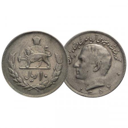 "1352 (1973) * 10 Rial Irán ""M Reza Pahlavi"" (KM 1179) MBC"
