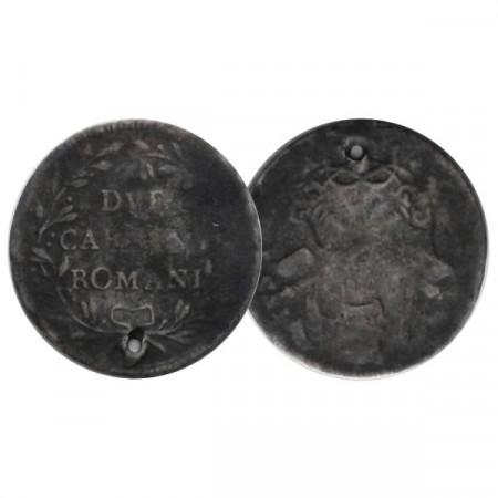 "ND (1780-81) * 2 Carlini Romani Estados Pontificios ""Pío VI"" (KM 1215) BR"