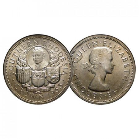 "1953 * 1 Crown Plata Rodesia del Sur - Southern Rhodesia ""Rhodes Centennial"" (KM 27) SC"
