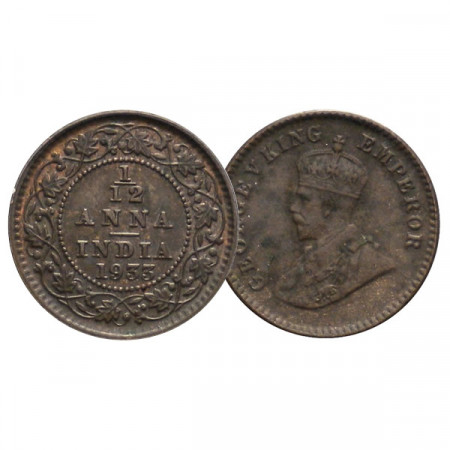 "1933 (c) * 1/12 Anna India Británica ""Jorge V"" (KM 509) EBC+"
