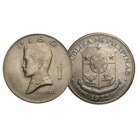 """1972 * 1 Piso Filipinas """"Jose Rizal"""" (KM 203) UNC"""
