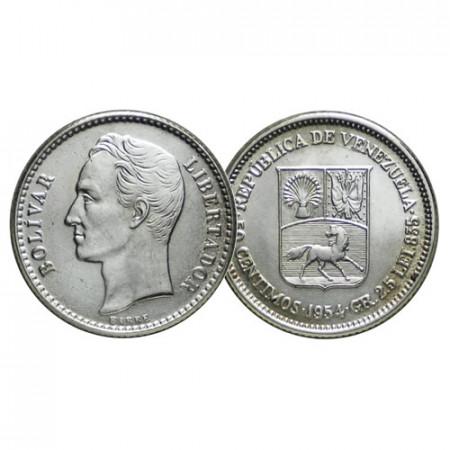 "1954 (p) * Gram 2,5 (50 Cents) Plata Venezuela ""Simón Bolívar"" (Y 36) SC"