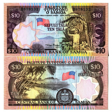 "ND (1985) * Billete Samoa 10 Tala ""Western - Shoreline"" (p27a) MBC+"