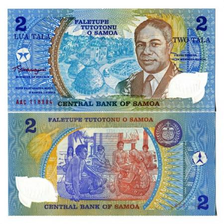 "ND (1990) * Billete Polímero Samoa 2 Tala ""Golden Jubilee - AAC"" (p31c) SC"