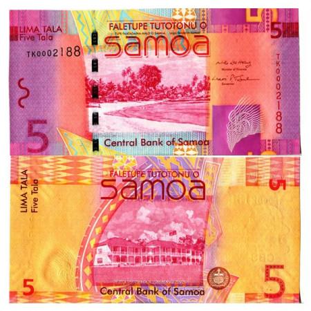 """ND (2008) * Billete Samoa 5 Tala """"Former Residence"""" (p38a) SC"""