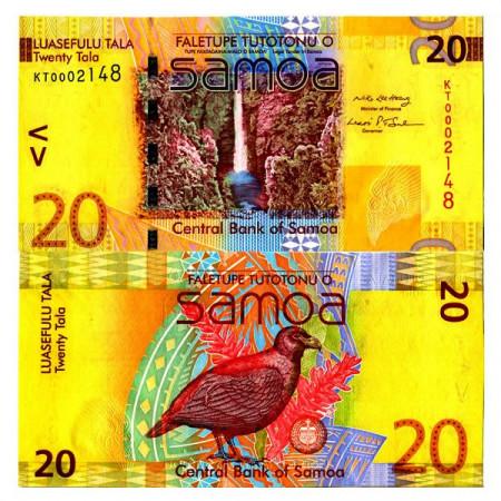 """ND (2008) * Billete Samoa 20 Tala """"Manumea Bird"""" (p40a) SC"""