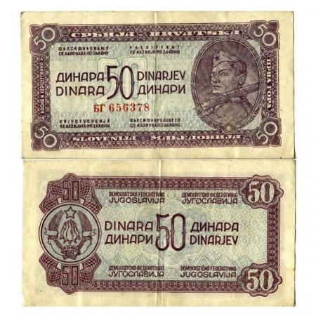 "ND (1944) * Billete Yugoslavia 50 Dinara ""Partisan"" (p52a) MBC+"