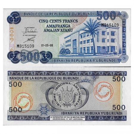 "1988 * Billete Burundi 500 Francs ""Banque Building"" (p30c) SC"